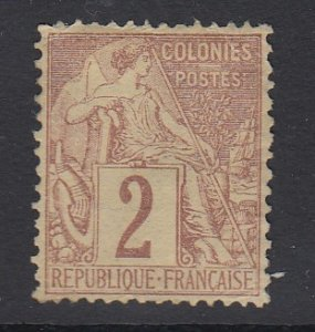 FRENCH COLONIES, Scott 47, MNG (no gum)