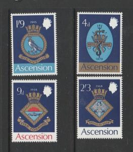 Ascension 1969 Naval Crests 1st Series UM/MNH SG 121/4