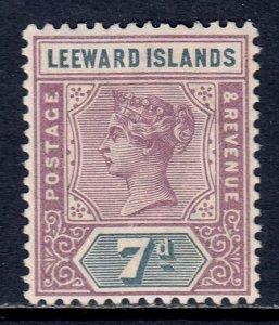 Leeward Islands - Scott #6 - MH - Pencil on reverse - SCV $10