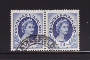 Rhodesia and Nyasaland 142 Pair U Queen Elizabeth II (B)