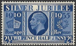 GREAT BRITAIN 1935 2 1/2d KGV SILVER JUBILEE Issue Sc 229 MH