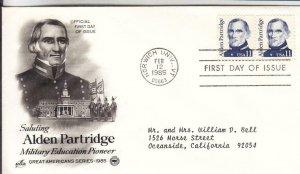 1985, Alden Partridge, Artcraft/PCS, FDC (E8419)