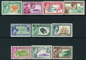 PITCAIRN ISLANDS-1940-51 Set to 2/6  Sg 1-8  MOUNTED MINT V12200