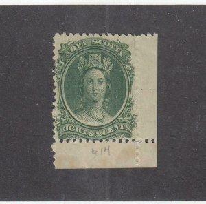 NOVA SCOTIA (MK5351)  # 11 VF-MNH  8 1/2cts 1860-63 QN VICTORIA W MARGIN CV $40