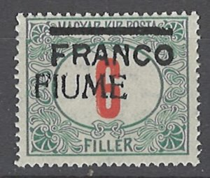 COLLECTION LOT # 2024 FIUME #24 MNH 1919 45 OMITTED