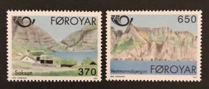 Faroe Islands 1991 #226-27, MNH, CV $2.75