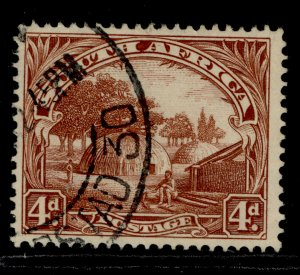 SOUTH AFRICA GV SG35c, 4d brown, FINE USED.