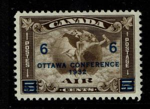 Canada SC# C4, Mint Hinged, Hinge Remnant, tiny Page Remnant - S2722
