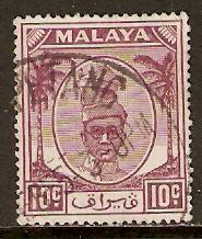 Malaya-Perak   #111  used  (1950)  c.v. $0.40