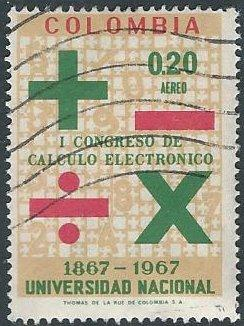 Colombia C510 (used) 20c National University, Data Processing Congress (1968)