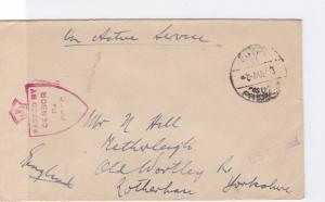 egypt 1940's on active service british field post censor cover  ref r15554