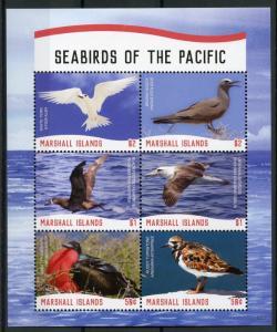 Marshall Islands Birds Stamps 2018 MNH Seabirds of Pacific Albatross Tern 6v M/S