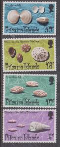 Pitcairn Islands - 1974 Shells set VF-NH Sc. #137-140