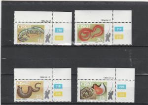 Ciskei  Scott#  65-8  MNH  (1984 Coastal Angling)