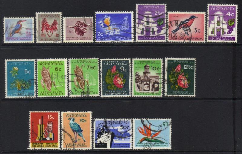 SOUTH AFRICA 1961 REPUBLIC ISSUE SET OF 17 USED VALUES