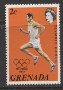 Grenada-Scott 459 -Munich Olympic Games Issue-1972-MLH- Single 2c Stamp