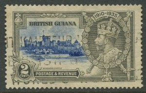 STAMP STATION PERTH British Guiana #223 Silver Jubilee Used CV$0.25