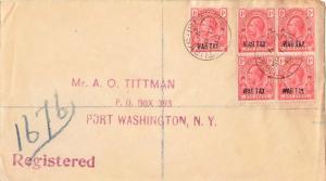 Turks & Caicos Is. 1d KGV Overprinted War Tax (6) 1919 Turks Islands Register...