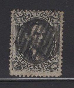 US Stamp Scott #77 Used 15c Black Lincoln SCV $175