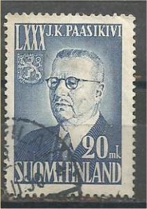 FINLAND, 1950, used 20m, Paasikivi, Scott 300