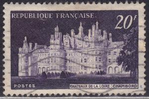 France 678 USED 1952 Chateaux de la Loire, Chambord 20Fr