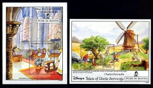 ST VINCENT GR - 1992 - DISNEY - PUSS IN BOOTS - DONALD - DAISY 2 X MNH S/SHEETS!