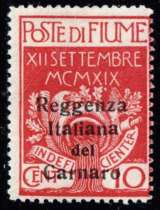 FIUME STAMP Carnaro Islands 1920 Military Post Stamps Surcharged MH/OG 10C
