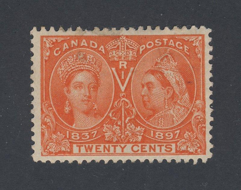 Canada Victoria Jubilee MH Stamp #59-20c MH F/VF S.P. Guide Value = $275.00