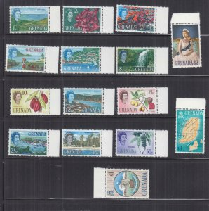 GRENADA, 1966 definitive set of 15, mnh.