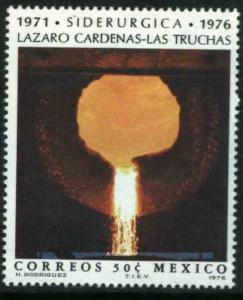 MEXICO 1153, Inauguration of the Las Truchas Steel Mill. MINT, NH. VF.