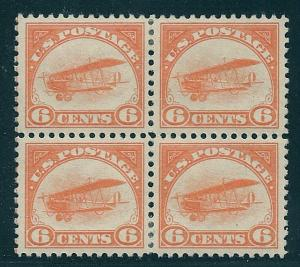 C1 Unused 6c. Air Mail, Blk of 4, PSE Cert. Grade: XF-90, Free Insured Shipping