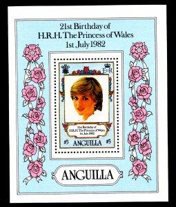 Anguilla 491 Princess Diana Souvenir Sheet MNH VF