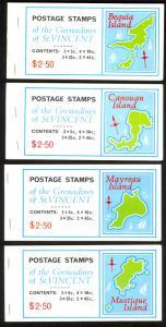 ST VINCENT GRENADINES 1976 Individual Islands Booklet Set of 7 Sc 88-111 MNH