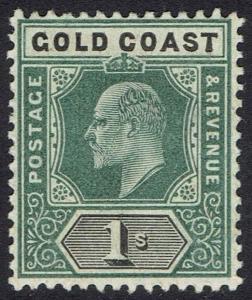 GOLD COAST 1902 KEVII 1/- WMK CROWN CA