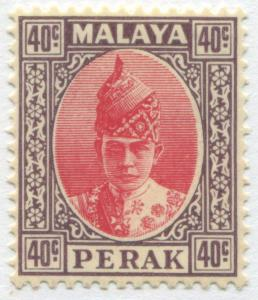 Malaya Perak 1938 40 cents violet and rose red mint o.g.