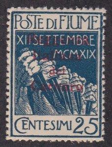 Fiume  # 112, Overprinted Stamp, NH, 1/3 Cat.