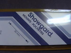 SHOWGARD MOUNTS # 30--215MM LONG x 30MM WIDE---22 STRIPS---BLACK /NEW