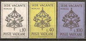 Vatican City #362-4 Mint Never Hinged F-VF  (ST549)