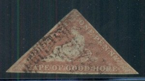 CAPE OF GOOD HOPE #3 USED, VF, NICE STAMP MISSING IN MOST COLLECTIONS SCOTT $225