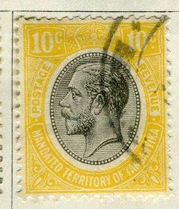TANGANYIKA; 1927 early GV Head issue fine used 10c. value
