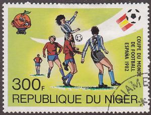 Niger 561 USED 1981 Spain '82 World Cup Soccer