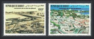 Djibouti Centenary of Djibouti City 2v SG#1011-1012