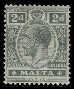MALTA GV SG75, 2d grey, M MINT. Cat £15.