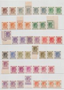 Hong Kong - 1938 - SG 140-62 - MNH