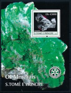 [96718] Sao Tome & Principe 2004 Minerals Tennantite Rotary Sheet MNH