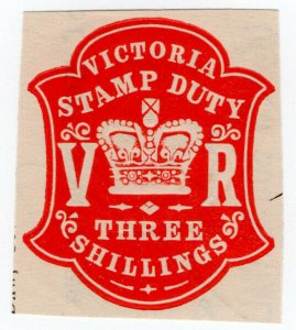 (I.B) Australia - Victoria Revenue : Impressed Duty 3/-