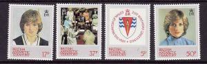 British Antarctic Territory-Sc#92-5- id2-unused NH set-Princess Diana-1982-