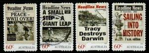 AUSTRALIA SG4034/7 2013 HEADLINE NEWS SELF ADHESIVES FINE USED