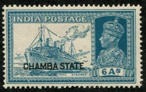 India - Chamba SC# 79 (SG# 91) Mail Steamer, 6as, MH