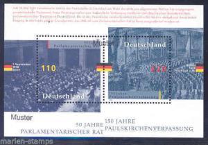 GERMANY S/S MUSTER HANDSTAMPED (SPECIMENS)  SC#2005 MI #BL43  MINT NH